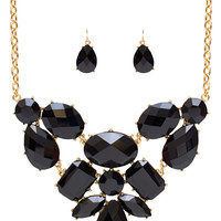 Harley Necklace Set - Black - One Size / Black