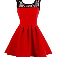 Red Skater Mini Dress