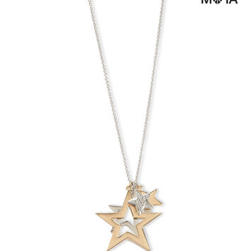 Aeropostale Star Cluster Long-Strand Necklace - Gold, One