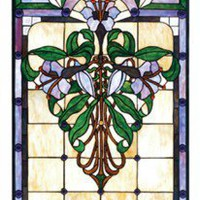 Meyda Tiffany Tiffany Floral Nouveau Nouveau Lily Stained Glass Window - 67136