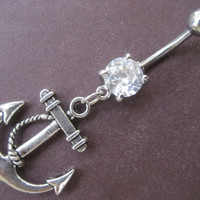 Anchor Belly Button Ring Navel Piercing Jewelry
