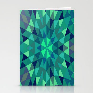 Teal Retro Geometry Stationery Cards by 2sweet4words Designs
