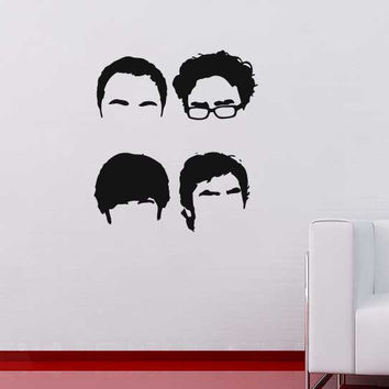 Big bang theory hair lines wall sticker decal interior design graphic decorative