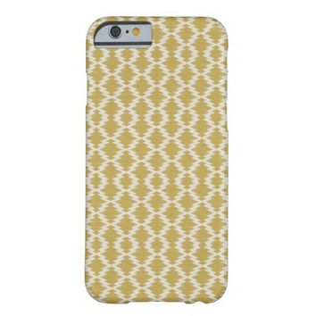 Modern Gold Chevron Tribal Aztec Ikat Pattern iPhone 6 Case