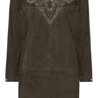 Isabel Marant Omaha studded suede dress – 60% at THE OUTNET.COM
