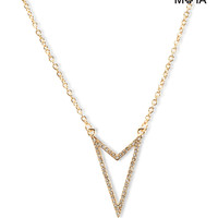 Aeropostale Pave Arrowhead Short-Strand Necklace - Gold, One
