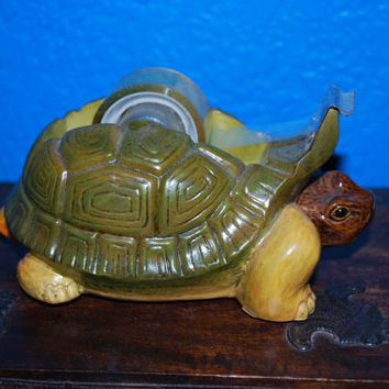 Vintage Turtle, Tortoise, Scotch tape dispenser