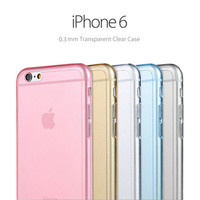 Pastel Color Soft Clear Case for iPhone 6 and iPhone 6 Plus