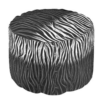 Animal Print Abstract Pattern Poufs Seating