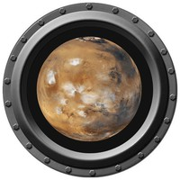 Mars Seen through A Porthole Vinyl Wall Decal by WilsonGraphics