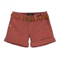 Casual Tooling Waist Shorts Brick Red - Apparel Indressme