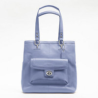 COACH PENELOPE LEATHER TOTE, Style #F19264, Sv/Cornflower