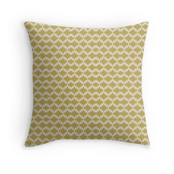 Chevron Tribal Aztec Ikat Pattern Throw Pillow