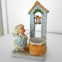 Ceramic Angel Candle Holder Vintage W A Candle Holder 1983