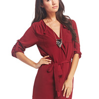 Classic Ruffle Front Shirt Dress | Wet Seal