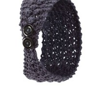 Buttoned Chunky Knit Head Wrap by Charlotte Russe