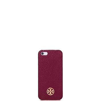 Tory Burch Robinson Pebbled Hardshell Case For Iphone 5