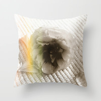 Delicate flower Throw Pillow by Viviana Gonzalez