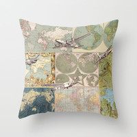 Flight Patterns Throw Pillow by Catherine Holcombe
