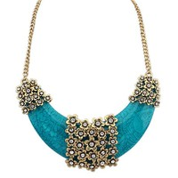Crescent Moon Vintage Statement Necklace