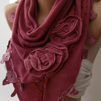 Pink / Elegance  Shawl-