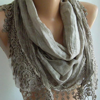Stone Color / Elegant  Shawl / Scarf.