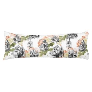 Alice in Wonderland Vintage Roses Body Pillow
