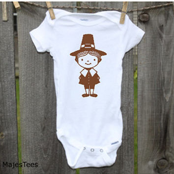 Pilgrim Thanksgiving Onesuits®, Baby, toddler, kids, Thanksgiving Shirt