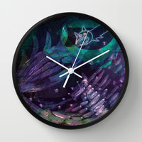 Halloween Ghosts Wall Clock by Marianna Tankelevich