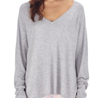 soft touch v-neck pullover