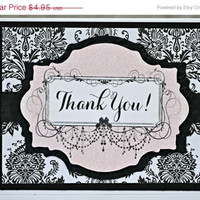 ON SALE Thank You Card / Feminine Thank You Note Card