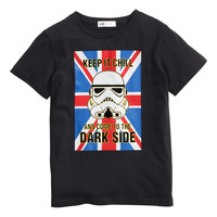 H&M - T-shirt with Printed Design - Black/Star Wars - Kids