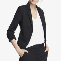 20 INCH STUDIO STRETCH RUCHED SLEEVE JACKET from EXPRESS