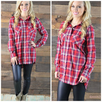 Best You've Ever Plaid Red Top