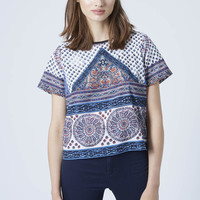 PETITE Scarf Placement Print Tee