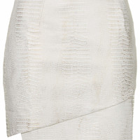 **PU Snakeskin Cross Over Skirt by ...