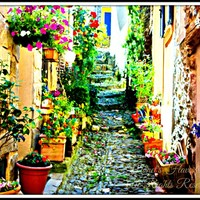 Small Village in the South of France Digital Art