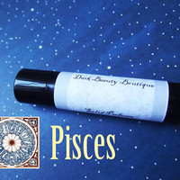 Solid Perfume - Pisces - AstrologicalPerfume Crme Jar or Stick - Nag Champa, Vanilla Wood, Lilac, Frankinscense, Fig, Oakmoss