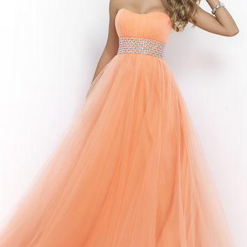 Floor Length Strapless Sweetheart Prom Dress by Blush