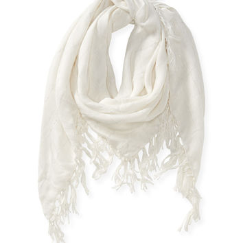 Aeropostale Shimmer Windowpane Scarf - Cream, One