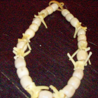 Necklace Wood Bone Leather Bold Natural