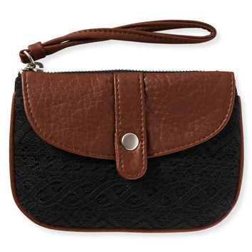 Aeropostale Lace Wristlet - Black, One