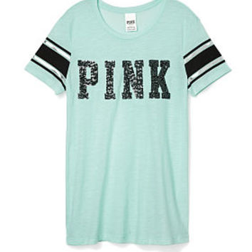 Bling Crewneck Tee - PINK - Victoria's Secret