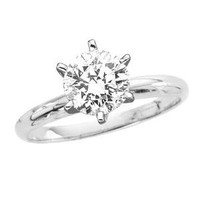 3.71 ct. H - VS1 IGI Certified Round Brilliant Cut Diamond Solitaire Ring (White or Yellow Gold): Jewelry: Amazon.com