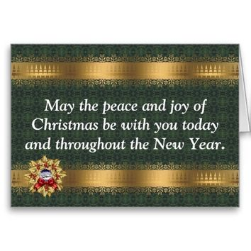 Gold Wreath Holiday Greeting