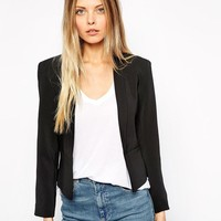 ASOS | ASOS Cropped Blazer with Slim Lapel at ASOS