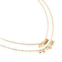 Dimpled Pendant Chain Necklace