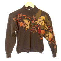 Autumn Leaves Wool Fall Theme / Thanksgiving Ugly Sweater