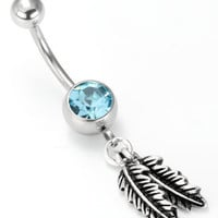 Lucky Feather Navel Ring