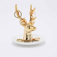 Reindeer Jewellery Holder in Gold - Urban Outfitters